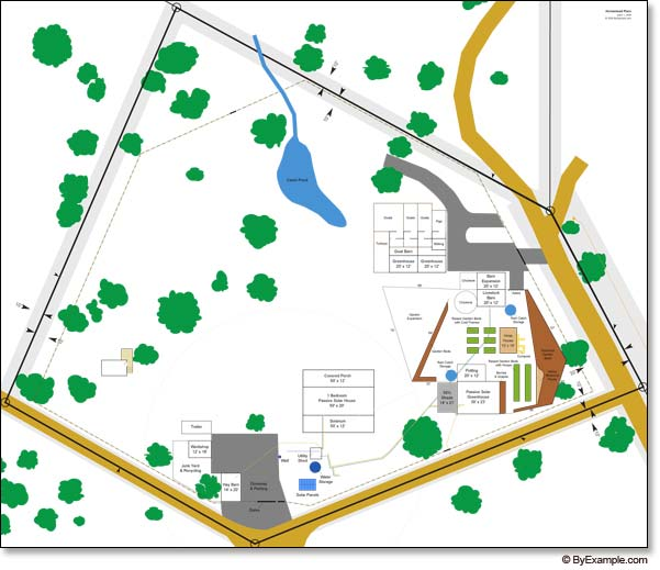 Map of Our Sustainable Homestead — ByExample.com