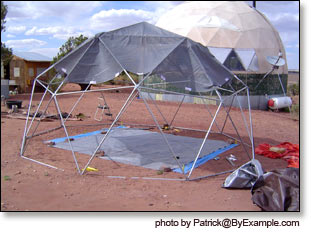While constructing the dome frame was relatively straightforward making a form fitting dome cover presented more of a challenge. We will be experimenting ... & New Geodesic Dome Calculator and DIY Dome Plans u2014 ByExample.com