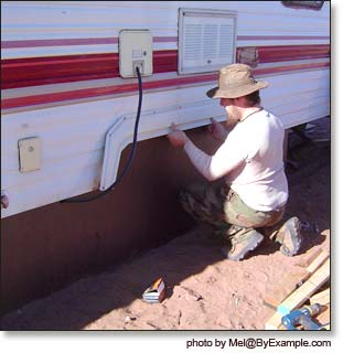 How to Skirt a Travel Trailer — ByExample.com